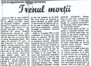 Articol din ziarul MESAGER nr. 433 din 12.01.1993.
