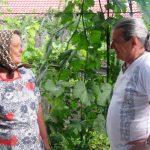 Autorul cartii si Fanase Feodosia, stranepoata lui Terente, (26 iulie 2009)