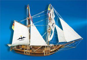 Corabia MARIȚA - prima navă cu pavilion românesc (macheta)