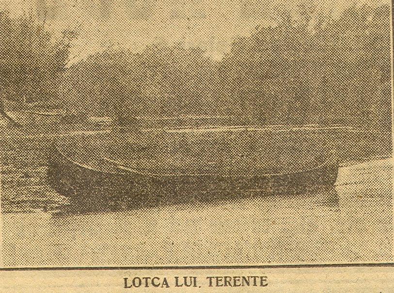 Lotca lui Terente (foto din presa vremii)