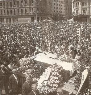 Maria Tanase - înmormântare