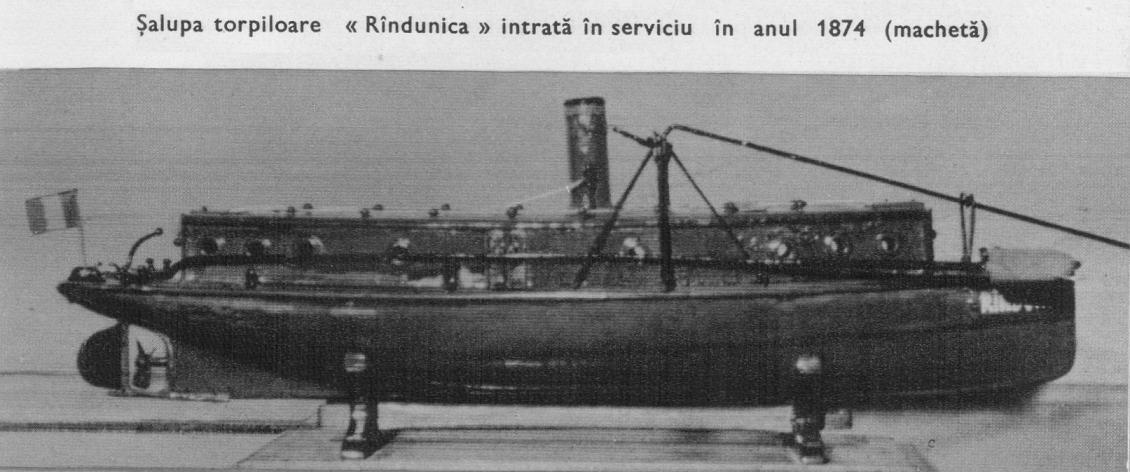 """Șalupa torpiloare """"Rândunica""""."""