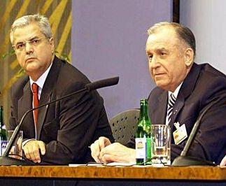Adrian Năstase și Ion Iliescu, doi gropari ai României, susținători ai lui Teodosie, un păcătos al ortodoxiei.