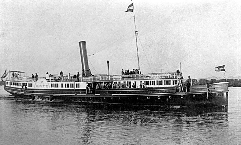 Călătorie pe Dunăre cu nava Ștefan SZÉCHÉNYI, 4 iunie 1902.