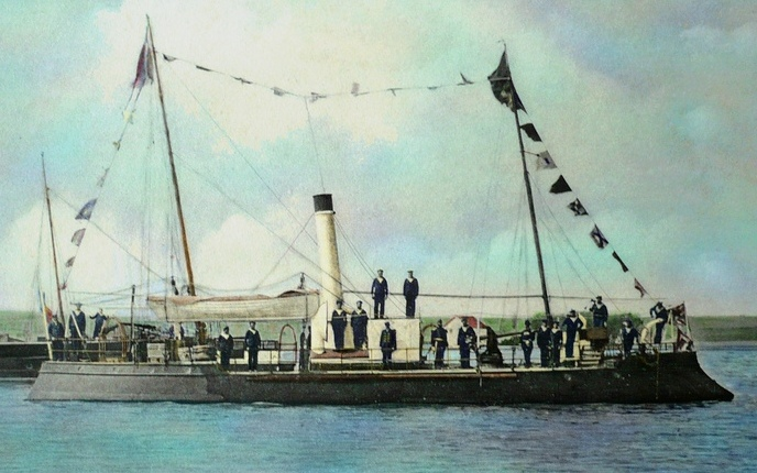 """Canoniera """"Fulgerul"""" – prima navă militară care a purtat pavilionul naţional la catarg în apele Mării Mediterane şi Mării Negre"""