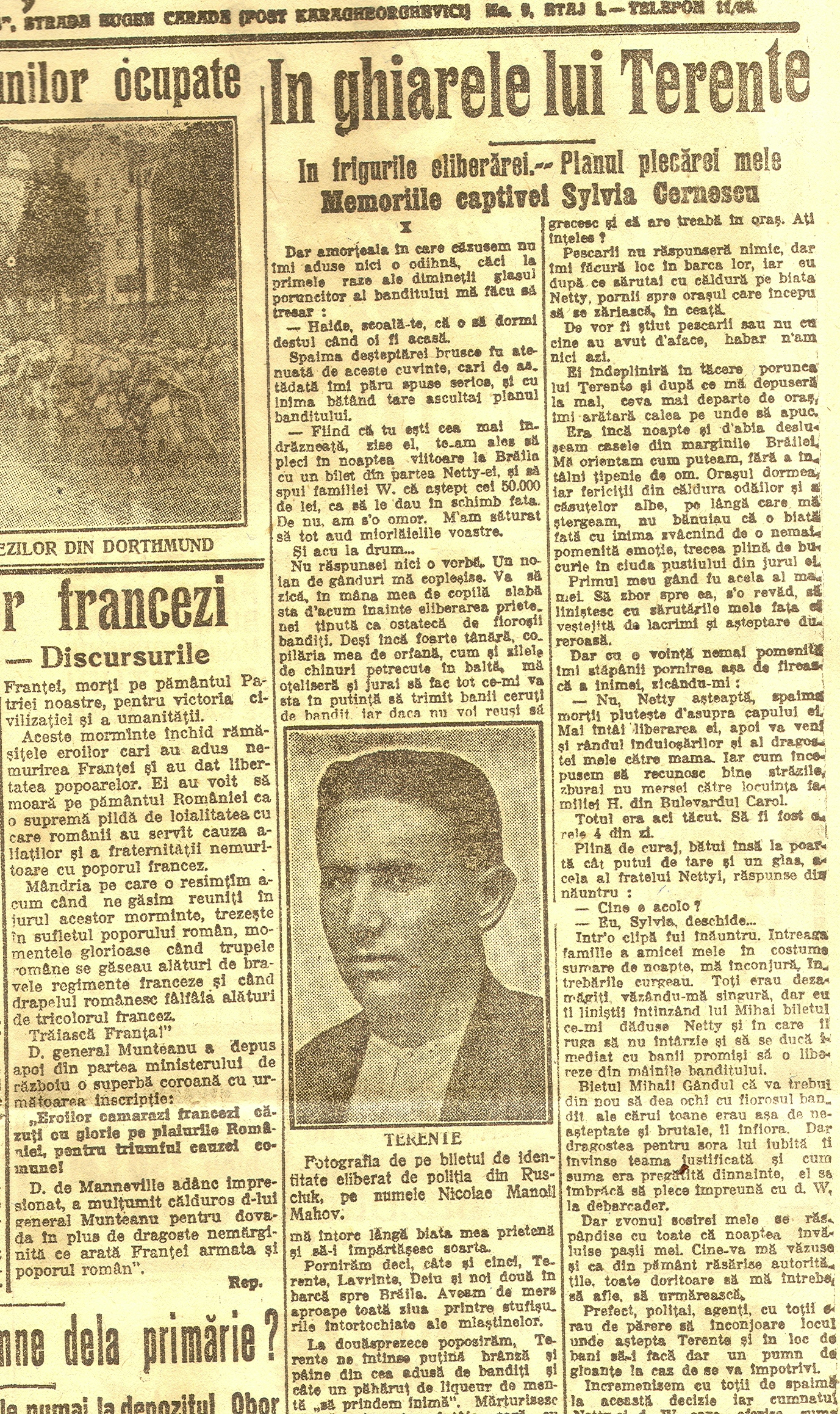 "Cotidianul ""Dimineața"", Anul XXI, No. 6459, Miercuri, 5 noiembrie 1924, pag. 3."