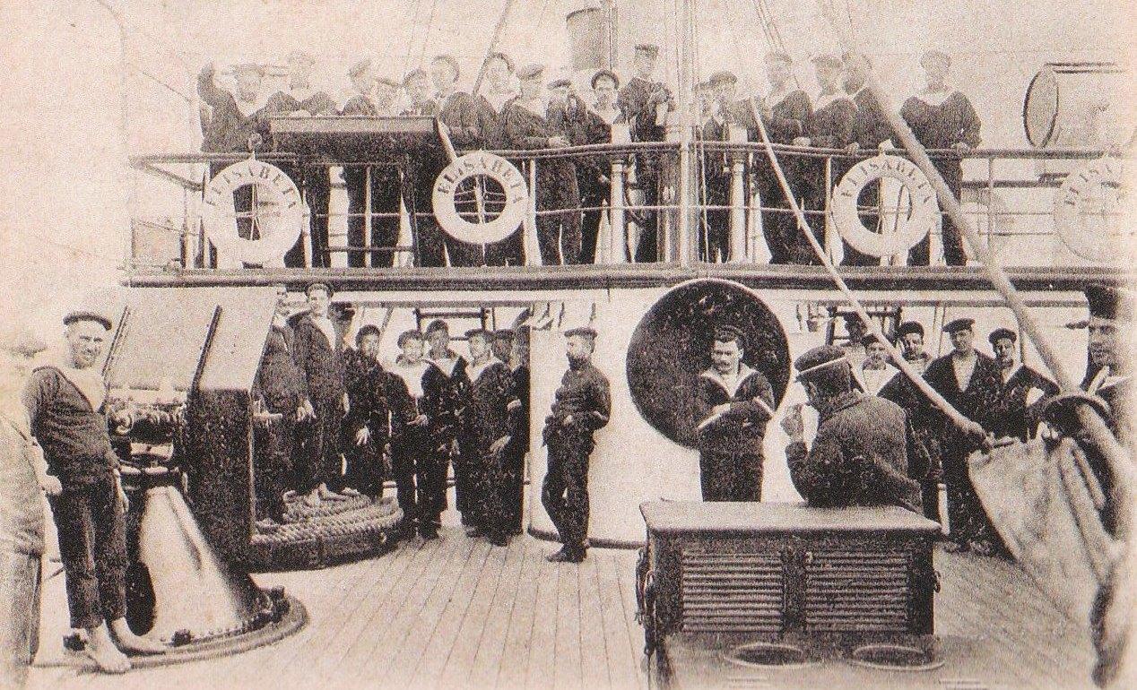 """Echipajul crucișătorului """"Elisabeta"""", 22 iunie 1899."""