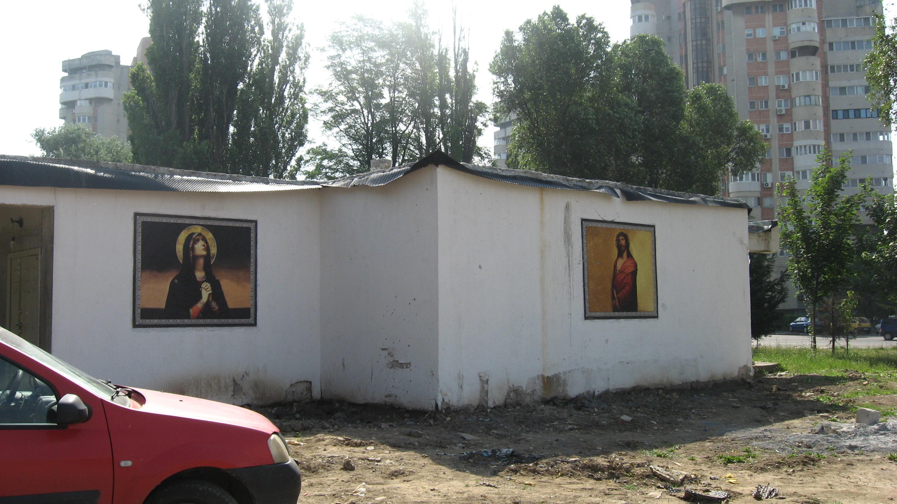 Fecioara Maria și Fiul - batjocoriți de antihristul Teodosie.