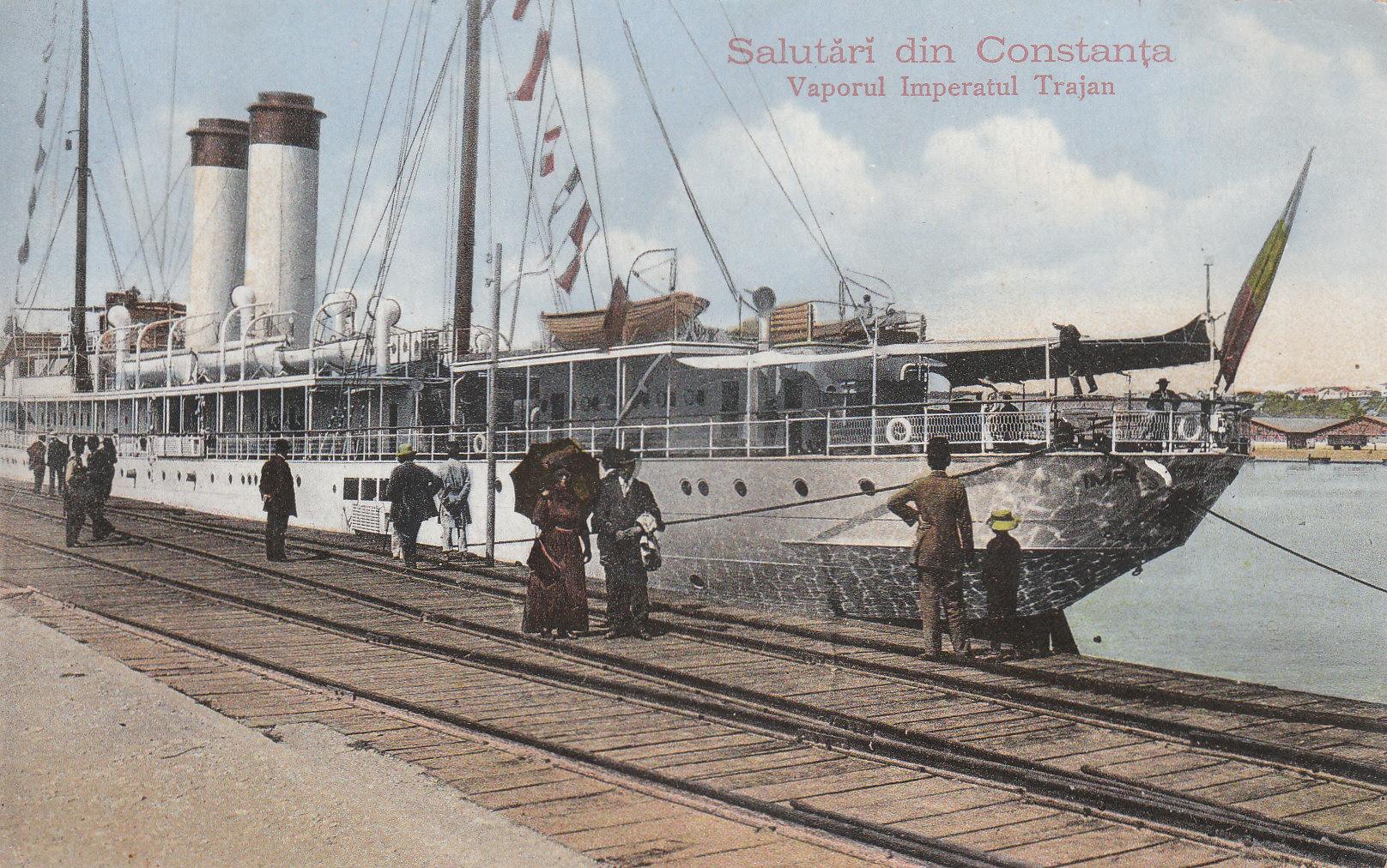 Nava IMPARATUL TRAIAN in portul Constanta (colectia Vasile Mihalache)