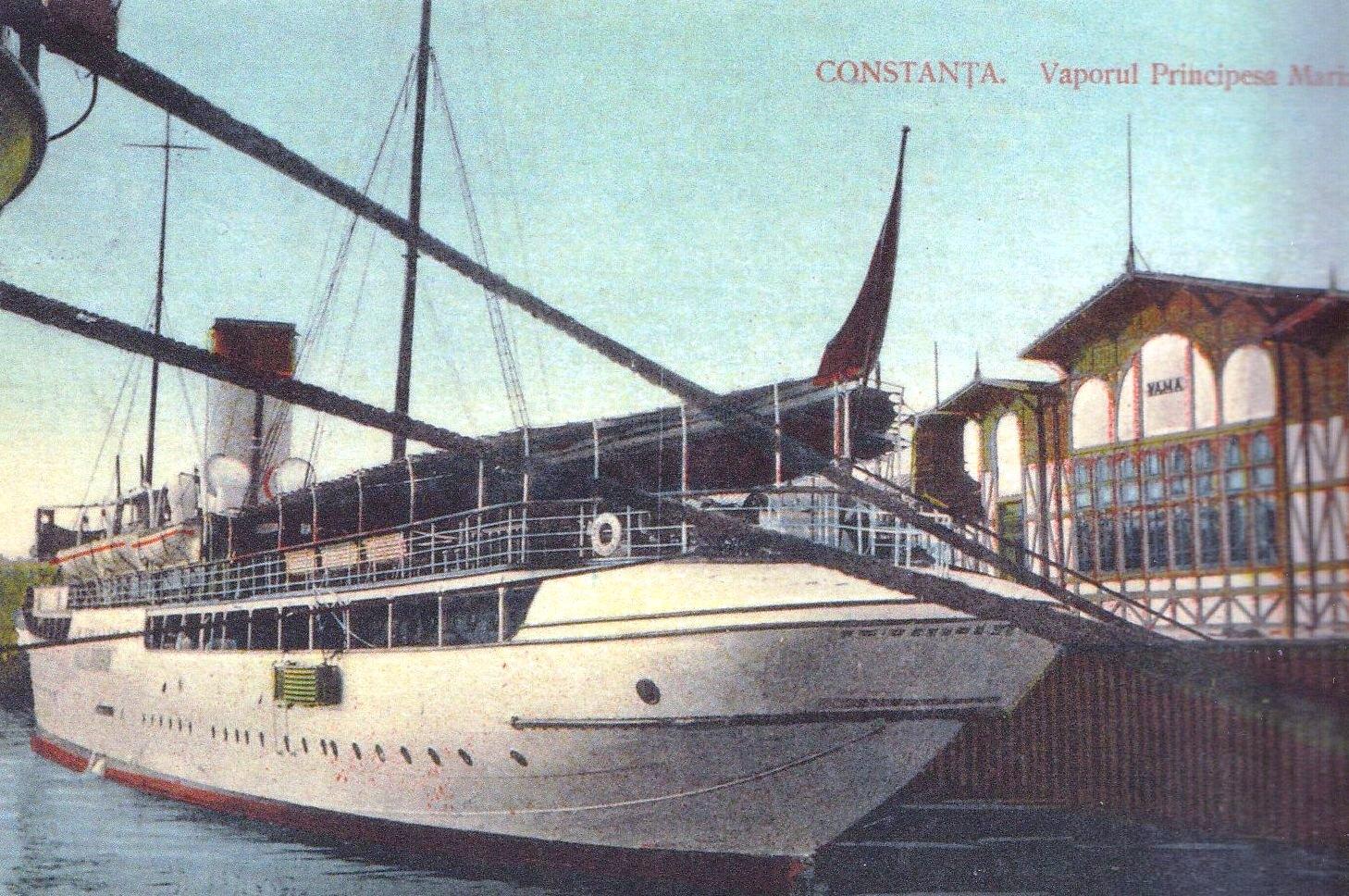 """""""Principesa Maria"""" în portul Constanța."""