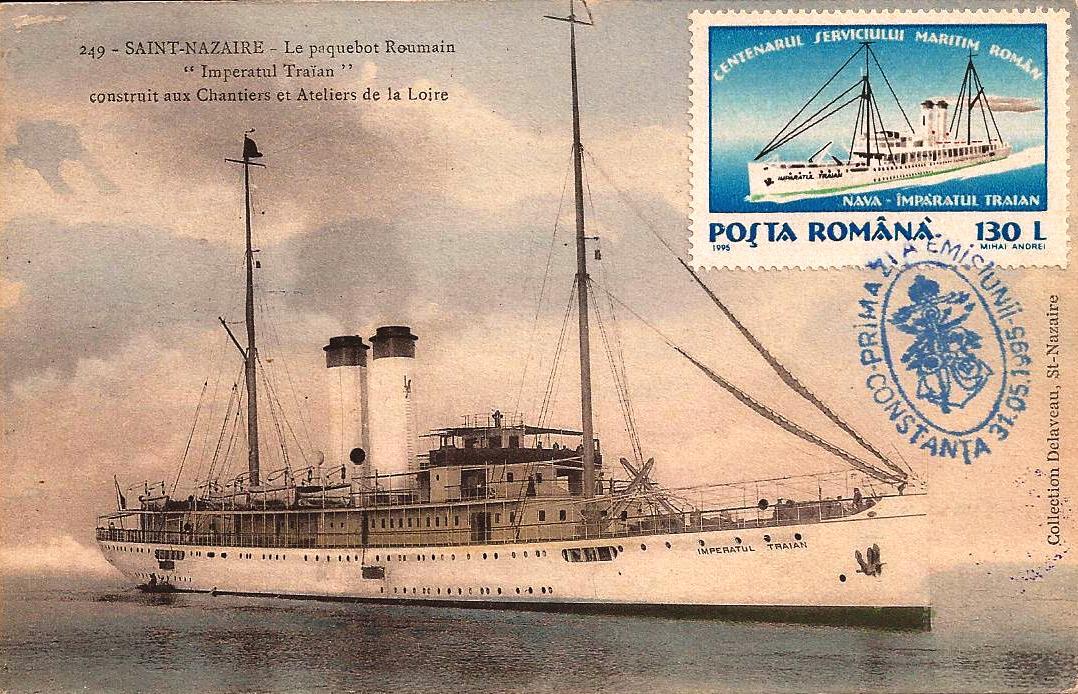 SMR - NAVROM - 100 de ani - pasagerul IMPARATUL TRAIAN