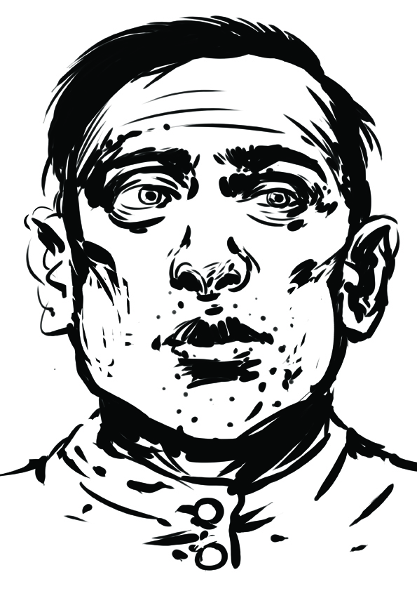 Terente (portret de Mihai Tymoshenko, artist plastic român stabilit în Ucraina).