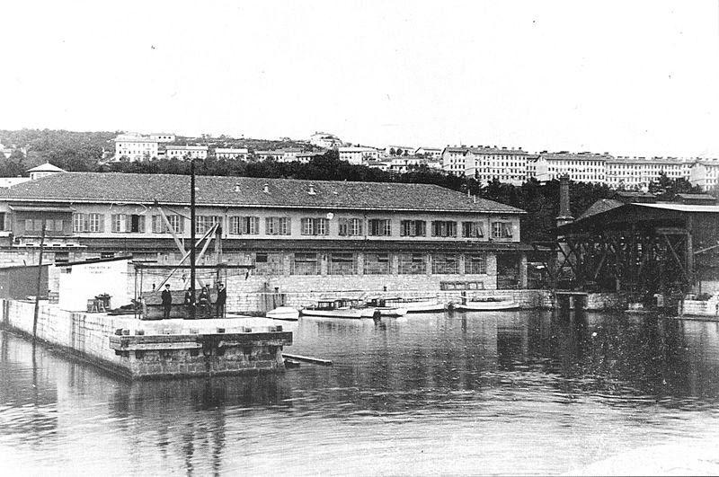Șantierul Naval din Fiume (Italia).