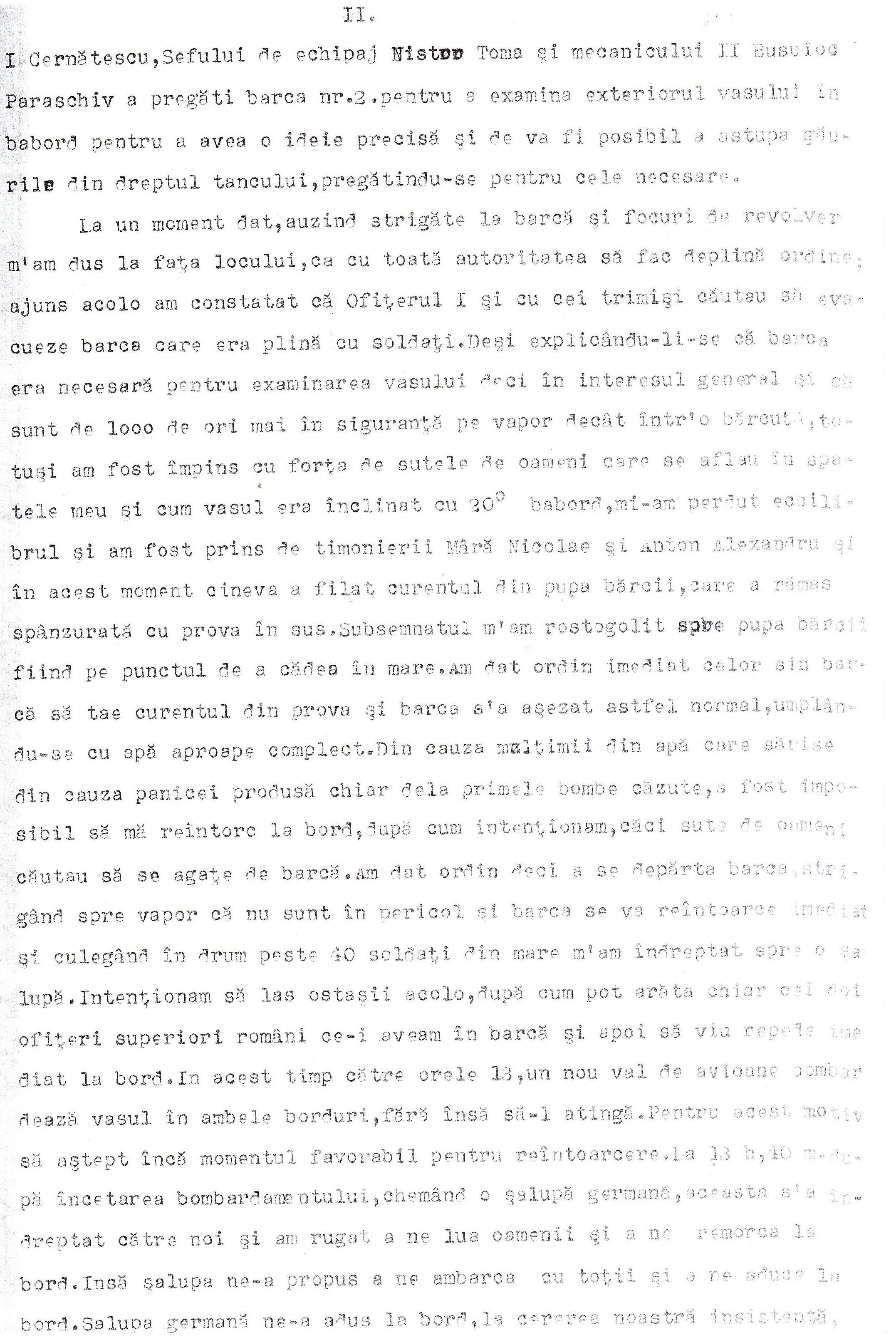 Protestul de Mare depus de căpitanul (r) Mihail Cociaş, comandantul navei «Alba Iulia» (pagina 2).
