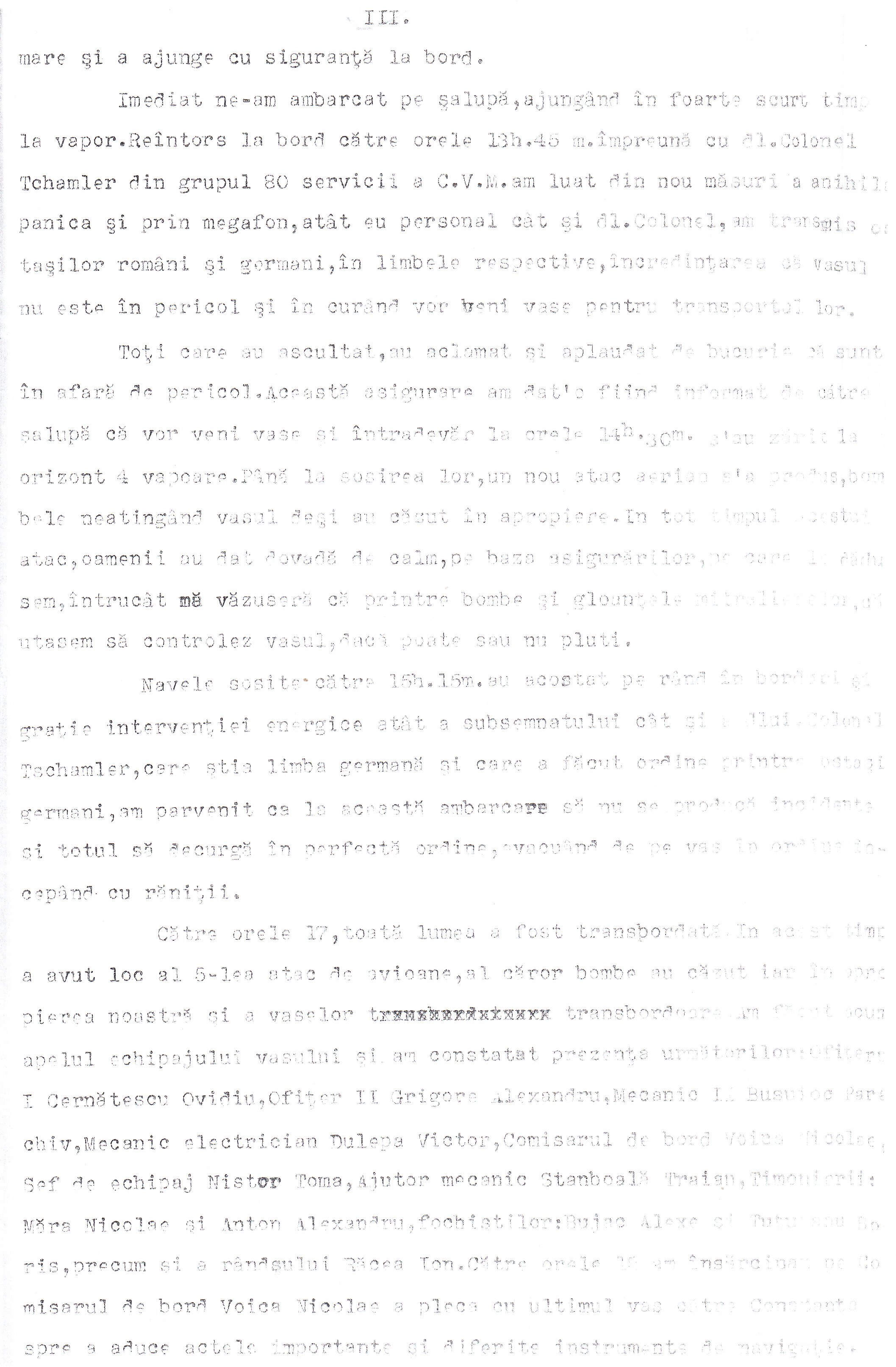 Protestul de Mare depus de căpitanul (r) Mihail Cociaş, comandantul navei «Alba Iulia» (pagina 3).