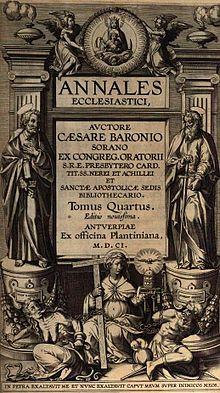 """Annales Ecclesiastici consemnează celebra afirmație a papei Leon al X-lea: """"Ştim prea bine ce superstiţie profitabilă a fost pentru noi şi pentru înaintaşii noştri această fabulă despre Hristos""""."""