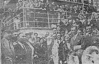 La 7 septembrie 1933 a avut loc botezul navei, eveniment la care a participat și o delegație a orașului Alba Iulia, în frunte cu primarul localității.