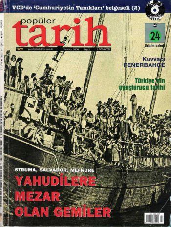 """Carte dedicată tragediilor navelor """"Struma"""", """"Salvador"""" și """"Mefkure""""."""