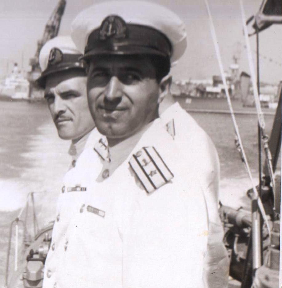 """Cpt. R3 - Ilie Ștefan, comandant al submarinului """"Delfinul"""" în perioada decembrie 1952 - ianuarie 1955."""