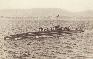 """Submarinul """"O'Biyrne"""" (în foto) ar fi fost primul submarin românesc, dacă negocierile dintre guvernele român și francez ar fi fost duse la bun sfârșit."""
