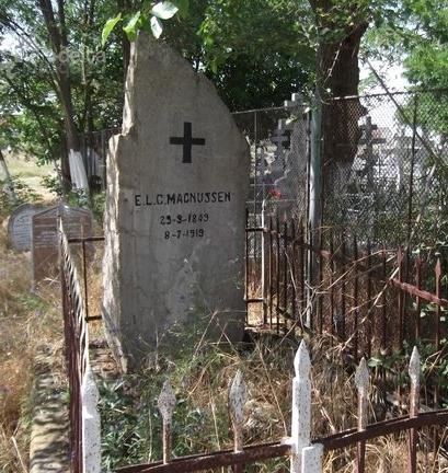 Monumentul de la mormântul lui Eugenius Magnussen.