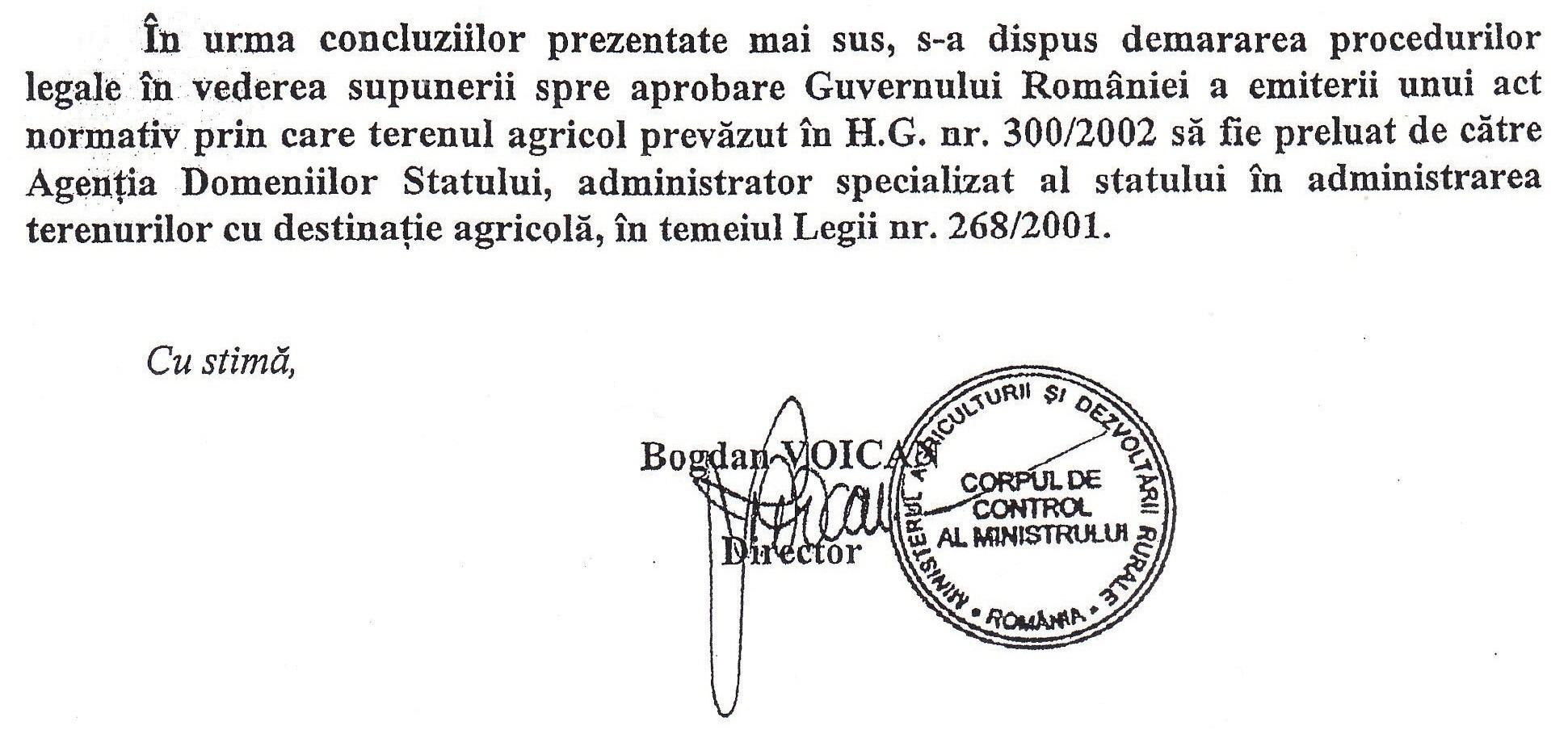 A propus Ministerul Agriculturii catre Guvernul României emiterea unui act normativ prin care cele 350 ha de pământ (donate de Adrian Năstase lui Teodosie, cf. H.G. 300/ 2002) să fie preluate de Agenția Domeniilor Statului?