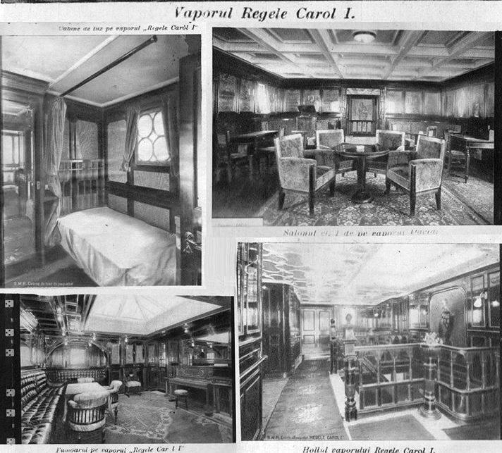 """Imagini din interiorul navei """"Regele Carol I""""."""