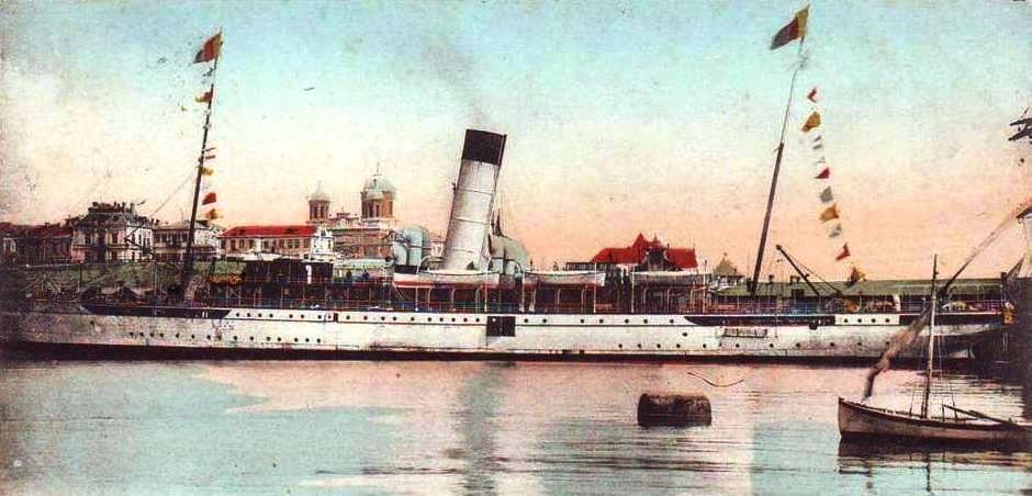 """Nava mixtă """"Regele Carol I"""" în portul Constanța."""