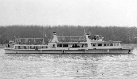 """Nava fluvială de pasageri """"Mogoșoaia""""."""