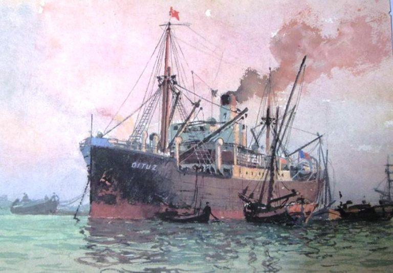 """Cargoul """"Oituz"""" a fost torpilat chiar în bazinul portului Constanța"""