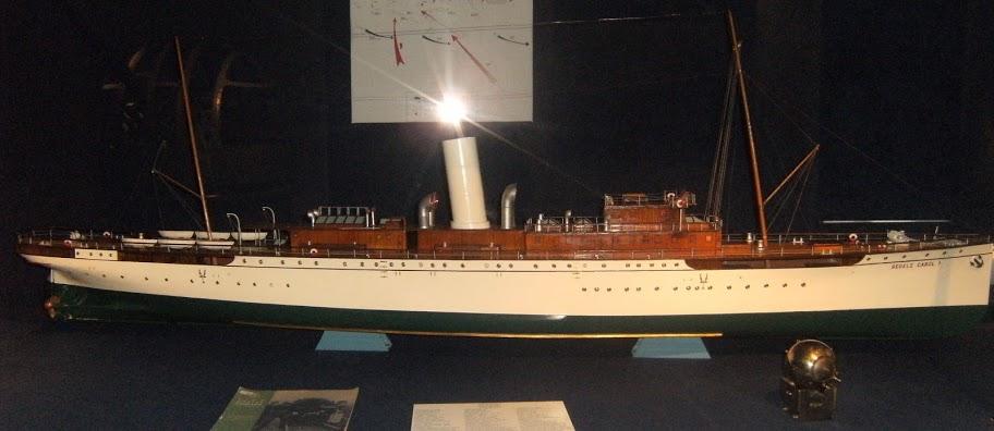 """Nava mixtă de pasageri și poștă """"Regele Carol I"""" (machetă)."""