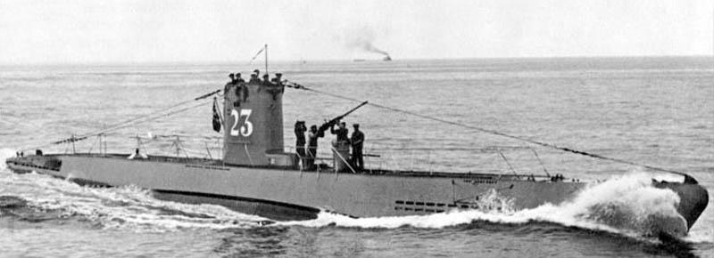 Submarin german U-23. Potrivit altei ipoteze, nava românească ar fi fost torpilată de submarinul german U-19.