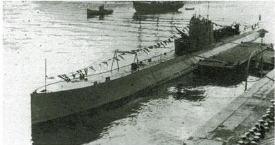 "Submarinul sovietic L-4 ""Garibaldets"", care se presupune c[ a torpilat nava românească."