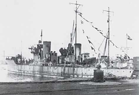 """Torpilorul """"Vârtejul, ex- 75T, a fost scufundat în dana 35/ 36 a portului Constanța. A fost clasat ca epavă, după care a fost dezmembrat."""