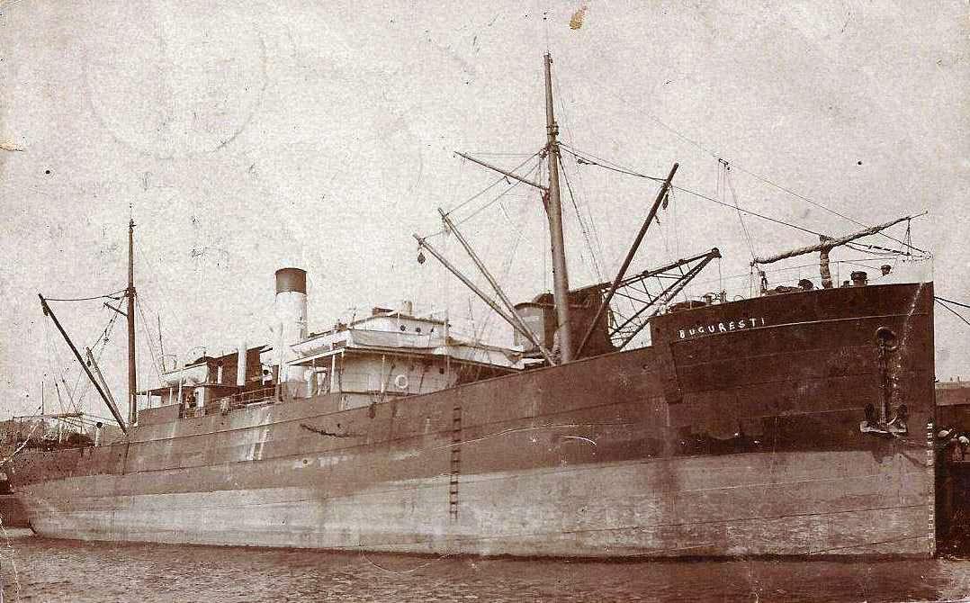 """Cargoul """"București"""" a fost prima navă care, în septembrie 1897, a inaugurat linia de mărfuri Brăila - Rotterdam"""