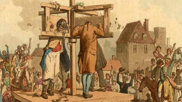 Metodă de tortură în timpul Inchiziției.