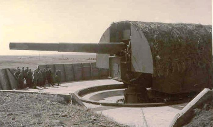 """Tun de 280 mm din cadrul bateriei """"Tirpitz""""."""
