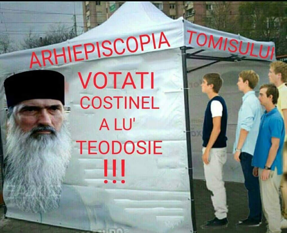 Dacă tot susține că implicarea în campania electorală este legală, REZISTENȚA propune Arhiepiscopiei instalarea de corturi de campanie, pentru strângerea de semnături în favoarea mireanului independent Costinel a lu' Dămășaru. Votați Costinel a lu'Teodosie!