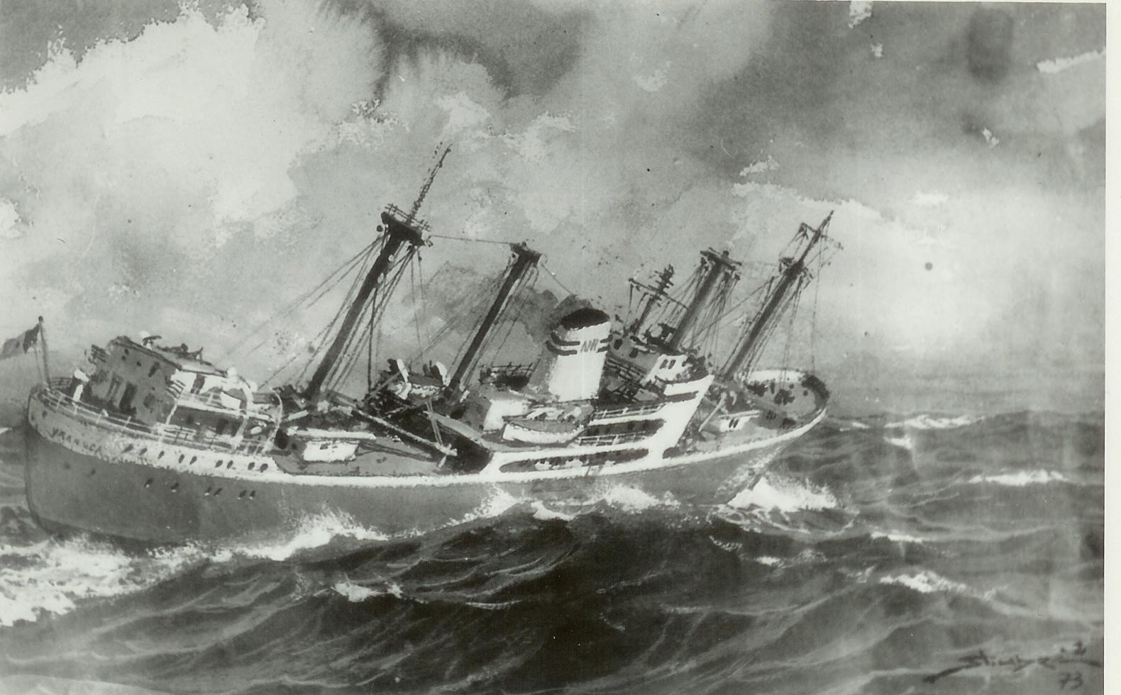 Cargoul VRANCEA (pictură de Valentin Donici).