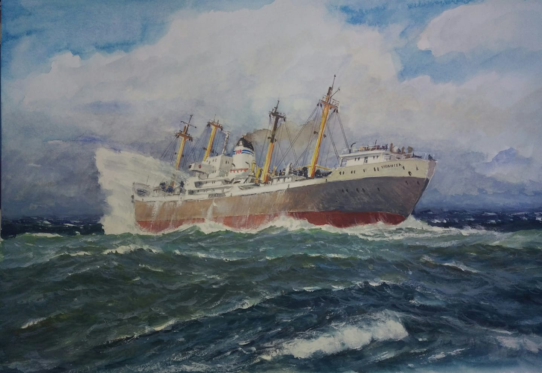 Cargoul VRANCEA (pictură de Ion Popescu).