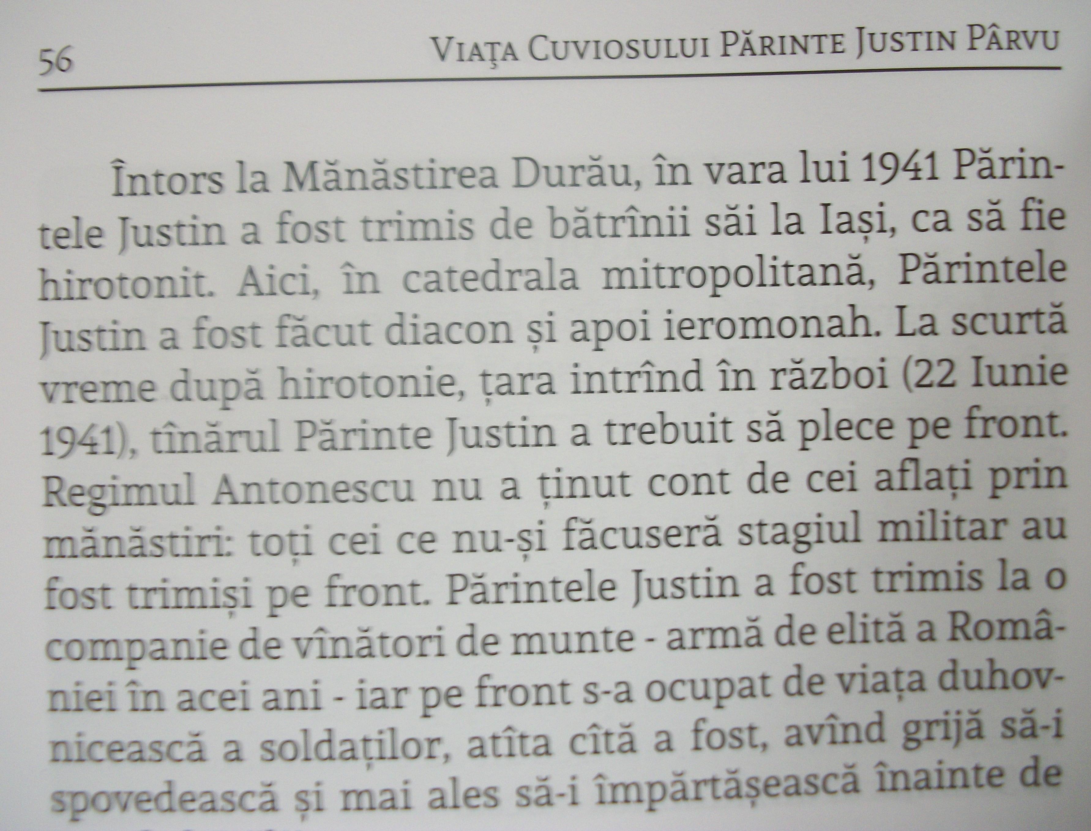 Alte minciuni din biografia Părintelui Justin Pârvu.