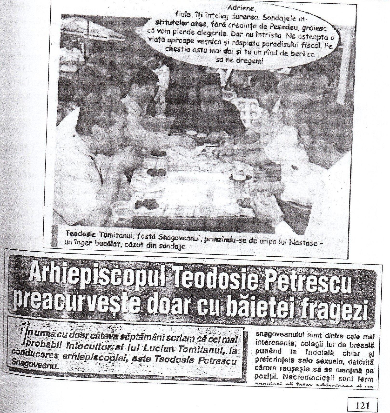 """Pagina 121 din volumul """"Rugați-vă pentru fratele Teoctist"""", de pr. prof. Ion Buga."""