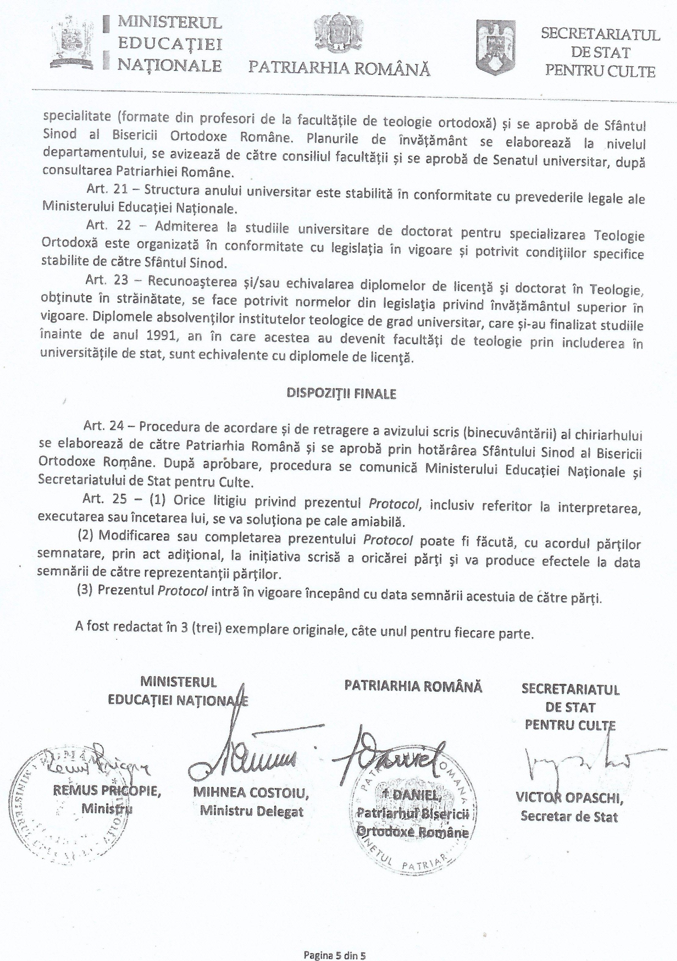 Semnatarii Protocolului.