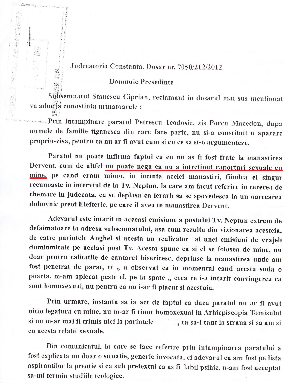 Raspuns la INTAMPINARE (pag. 1)