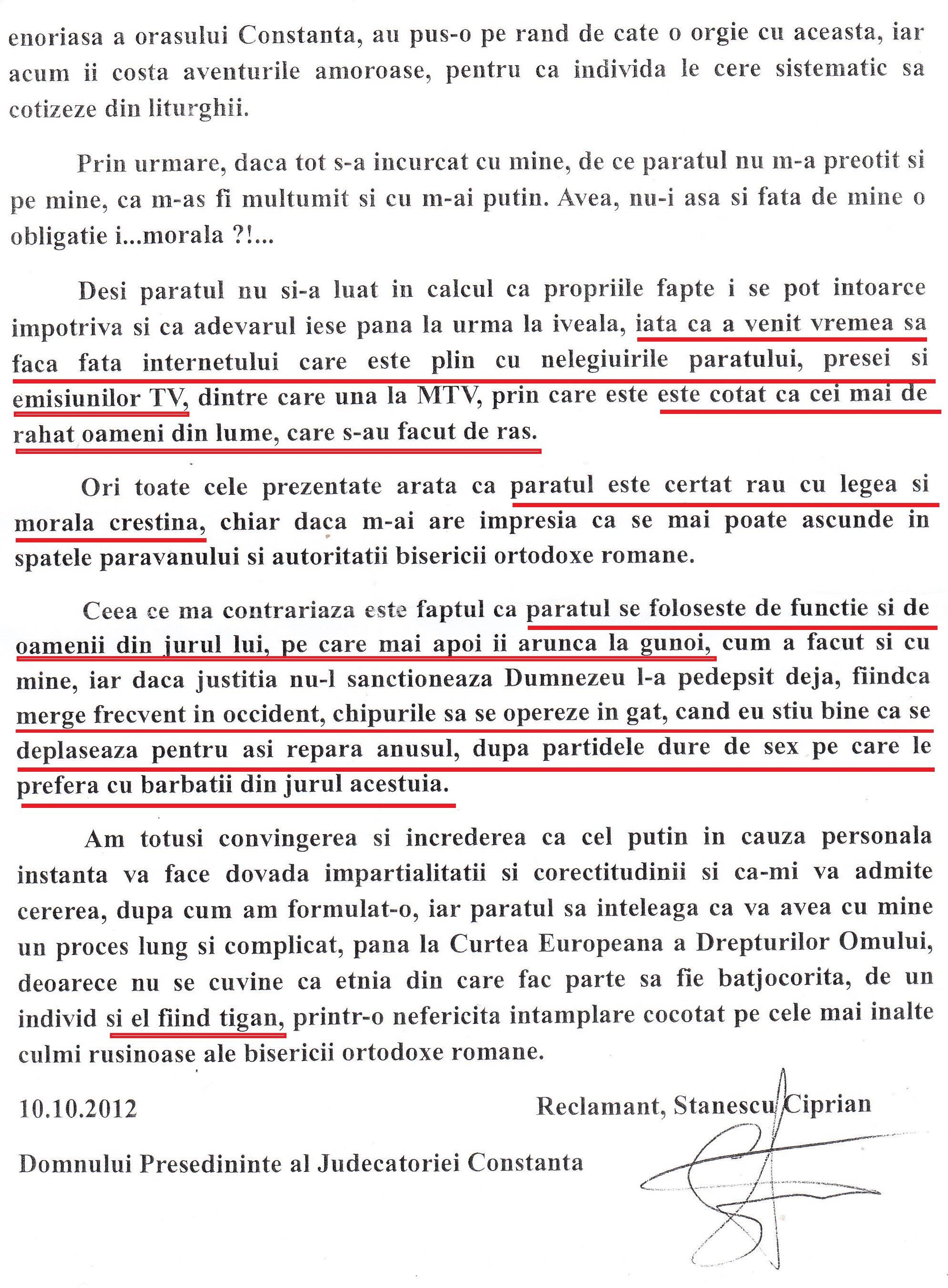Raspuns la INTAMPINARE (pag. 3)
