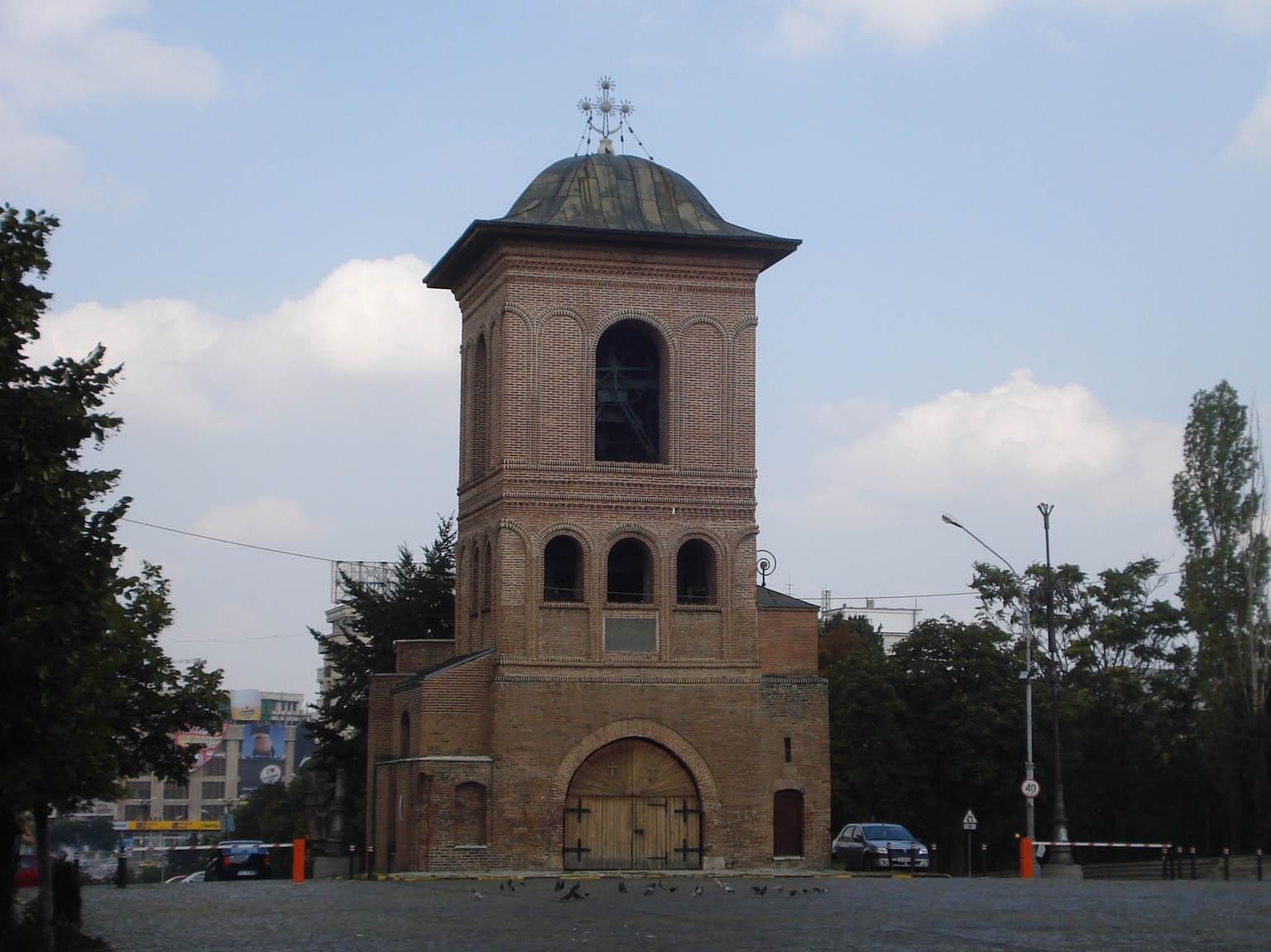 Clopotnița Patriarhiei, locul unde a fost amplasat lunetistul elvețian.