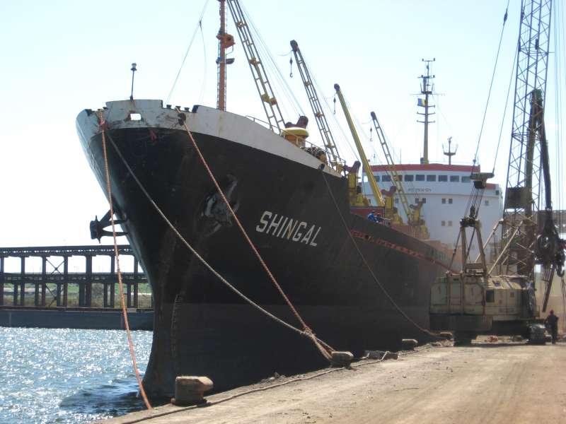 """Cargoul """"Shingal"""", ex-""""Filaret"""", a avut un incendiu la bord pe data de 12 ianuarie 2009."""