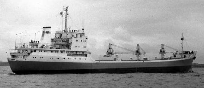Cargoul FELIX la intrarea pe râul Tyne, Marea Britanie, mai 1978 (foto - www.shipspotting.com).