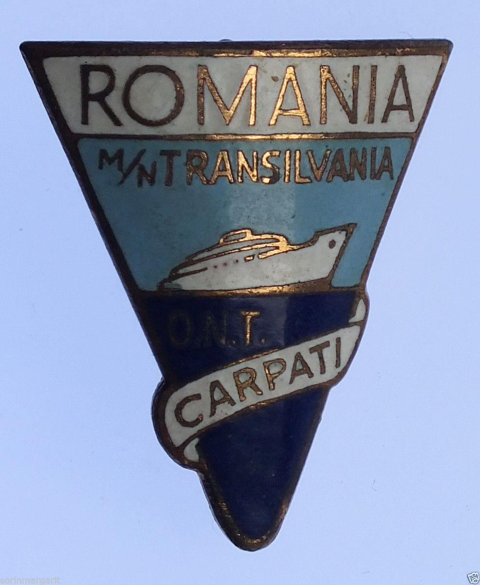 Insignă emisă de Oficiul Național de Turism CARPAȚI - România.