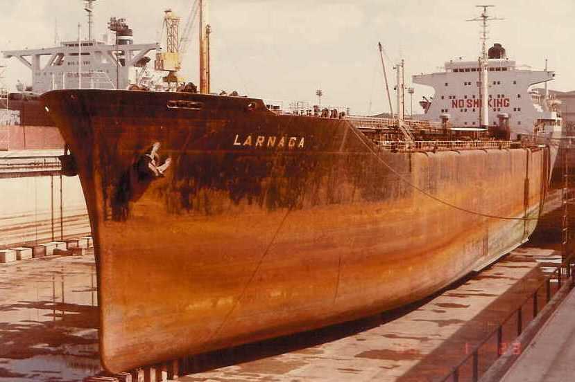 """Petrolierul """"Larnaca"""" (ex-""""Argeș"""") la 23 noiembrie 1986"""